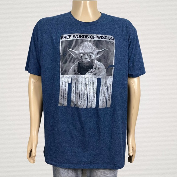 Star Wars Master Yoda Graphic Men's T Shirt 2XL